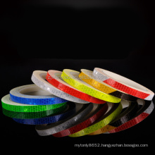 High Intensify Colorful Thin Car Motorcycle Bicycle Adhesive reflective pvc diamond grade tape film reflective tape sticker