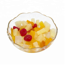 Canned tropical fruit cocktail/mixed fruits in light syrup or in heavy syrup in tins