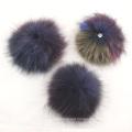 Germany national flag fancy colorful pom real raccoon fur pom pom Big Size 19cm wholesale