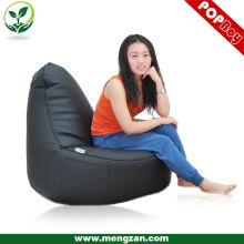 Черный PU кожаный роскошный диван beanbag / ленивый стул beanbag