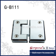 Gorgeous zinc brass 180 degree glass-glass hinge