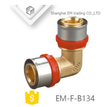 EM-F-B134 90 degree Aluminum plastic pipe fitting Elbow inox press Pipe