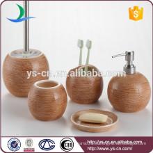 China fábrica de accesorios de cerámica de baño de cerámica en acabado de gunny