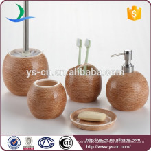 China factory round ceramic bathroom accessory in gunny finishing