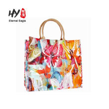 Exquisite printing design folding shopping bag
