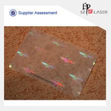UV protegido bolsa de plástico del animal doméstico del holograma para las tarjetas de papel