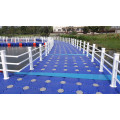 Pontoon for floating dock high bouyancy used aluminum docks blue colour high quality make in China