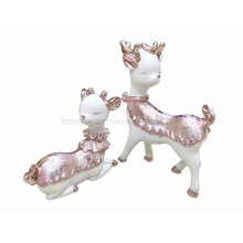 New Arrival Resin Craft Mini Double Dear Craft Display