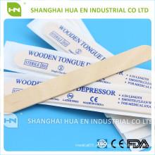EO Depresor estéril desechable de madera para uso médico