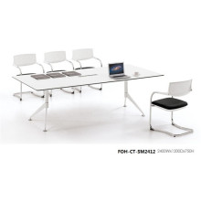 Unique Design White Board Room Table for Meeting (FOH-CT-SM2412)