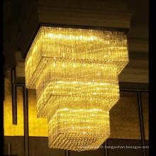 Grand éclairage adapté aux besoins du client de lustre en cristal pour l'hôtel, lustre fait sur commande de lustre de Factory.Wedding