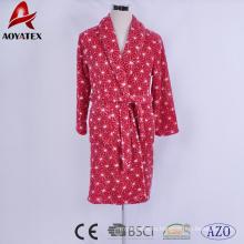 Мягкие фланель ватки напечатаны красивые красные женские халаты