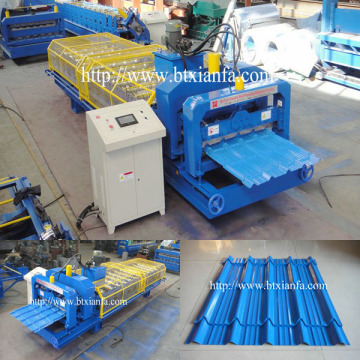 CE Glazed Tile Sheet Roll Forming Mesin Atap