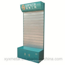 Customized Steel Slatwall Board Electrical Power Tooling Promotion Tools Exhibition Display Stand