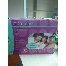 78% poliéster 22% nylon microplush protector de colchón de tratamiento ultra-fresco