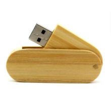 2015 Atacado Swivel Wooden USB Flash Drive com 8GB