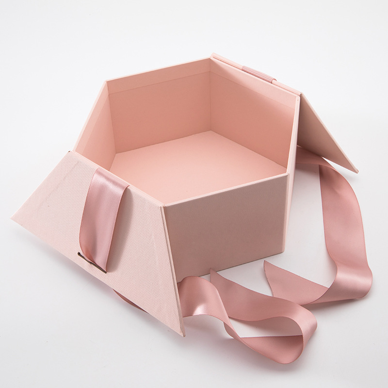 Fancy Hexagonal Cardboard Gift Box