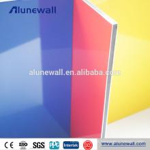 Painel composto de alumínio exterior da construção PVDF de 6mm