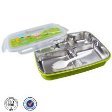 mantener la comida caliente de plástico y caja de almuerzo de acero inoxidable