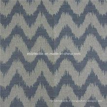 Hot Linen Like Jacquard Design de tissu de rideau de fenêtre en tissu souple