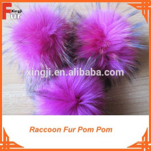 Pom Pom for hats, 13cm, Dyed Pink