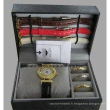 Ensembles de montres avec des bagues interchangeables pour filles