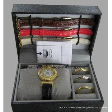 Conjuntos de relojes de regalo para niñas con bandas intercambiables