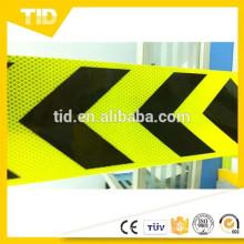 6 '' verde fluorescente amarillo y negro, Cinta reflectante de la etiqueta engomada de la flecha