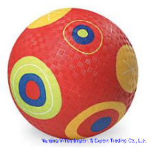 Red Color 8.5 Inch Rubber Playground Balls
