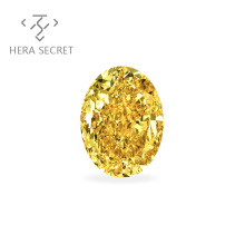 ForeverFlame  fancy yellow Oval Cut diamond CVD CZ Moissanite