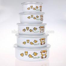 5 Pcs enamelware fruit ripening bowl for food warmer