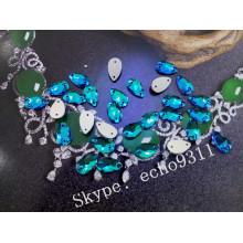 Smaragd Drop Nähen auf Steinen für Kostüm Dekoration (DZ-3065)