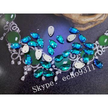 Emerald Drop coudre sur des pierres pour la décoration des costumes (DZ-3065)