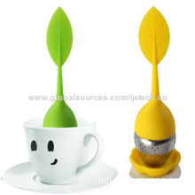 Food Grade Silicone Tea Strainer, Silicone Material With Stainless Steel