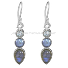 Labradorite And Multi Gemstone 925 Sterling Silver Earring