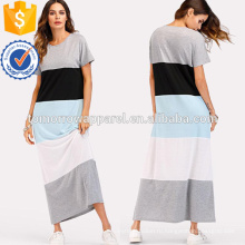 Цвет блок с коротким рукавом платье Производство Оптовая продажа женской одежды (TA3175D)