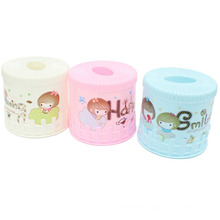 Cartoon Round Plastic Tissue Box Holder (ZJH006)