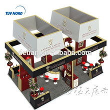 help design freely 20x30 feet trade show exhibition booth display custom, island 6x9m booth display and export to abroad