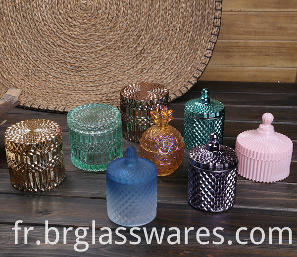 glass candle jar 5