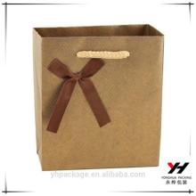 Yonghua maßgeschneiderte hochwertige braune weiße Pappgeschenktüte