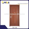 Modern White Flat Wooden Panel Interior Room WPC Doors Manufacturer