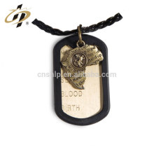 Bulk items new products zinc alloy antique custom metal tag pendant with rubber