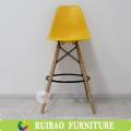 Italian Strong Comfortable Plastic Wooden Bar Stool Supplier ,High Chair For Bar,Restaurant,KTV Wooden Legs Plastic Chair