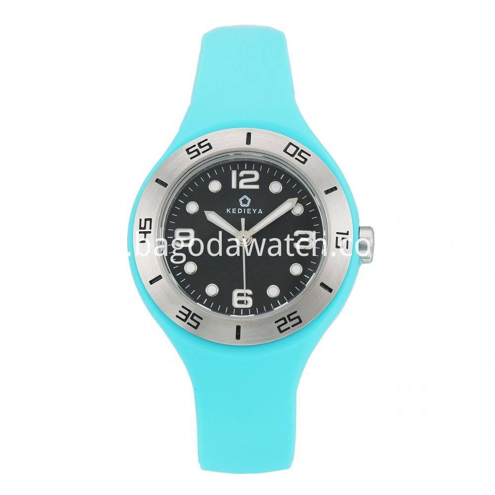 Rubber Strap Women S Watch