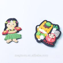 lovely soft pvc souvenir refrigerator magnet