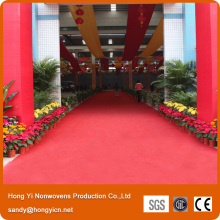 100%Polyester Needle Punched Nonwoven Fabric Red Carpet