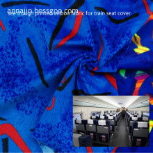 see through printed velboa fabric for train seat cover