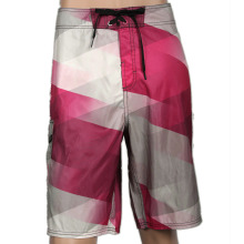 Designer Customized Mens 100% Polyester gewebte Sublimation gedruckte Board Shorts