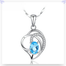 Silver Jewelry Crystal Necklace 925 Sterling Silver Jewelry (NC0105)
