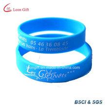 Custom Printing Logo Silicone Wristband / Rubber Bracelet